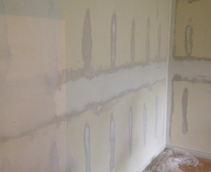 Wallpaper Removed, Walls Skim Coated, Walls and Trim Painted