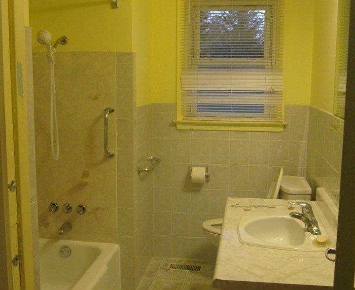 Bathroom walls, ceiling and trim
