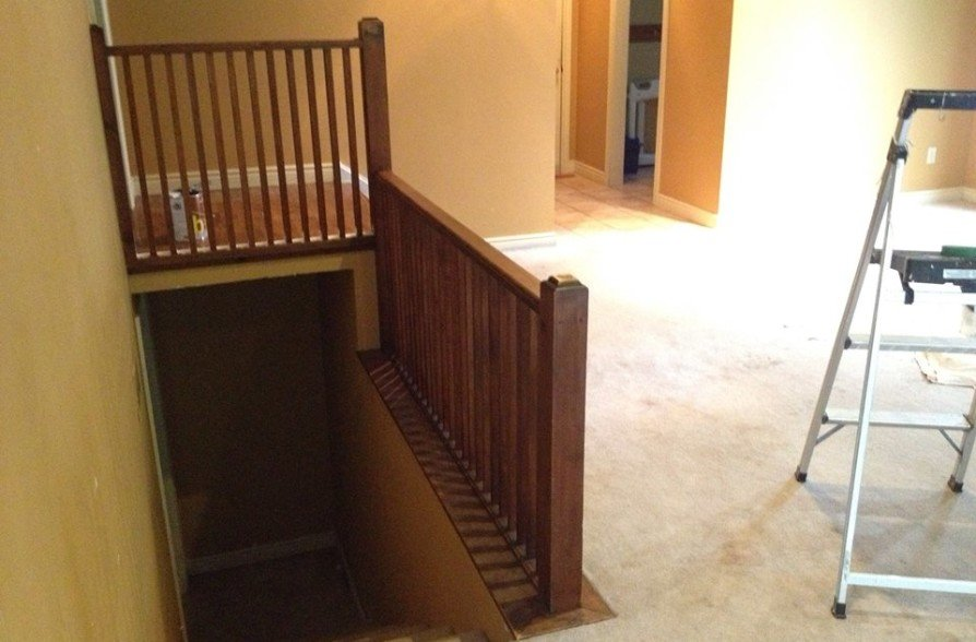 Painted Walls, Trim and Railing